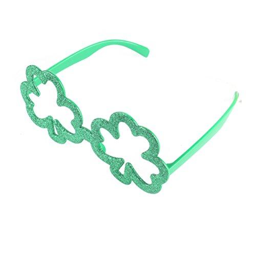 LUOEM Shamrock Brillen St Patricks Tag Kostüm Party Dekoration Party Brillen für irische Festival Urlaub Party Zubehör