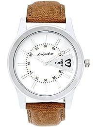 Armbandsur Analog Silver Dial Men's Watch-ABS0004MST