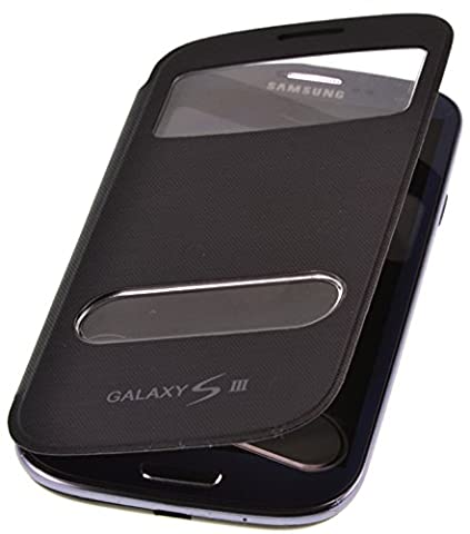 PhoneStar Flip Cover étui de protection avec fenêtre pour Samsung Galaxy S3 i9300 en noir