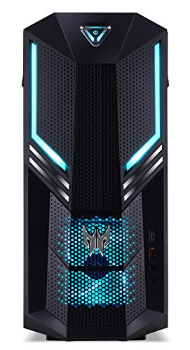 Acer Predator Orion 3000 – Computer desktop (Intel Core i5 – 8400, 8 GB RAM, 1000 GB HDD, 128 GB SSD, Nvidia GTX1050Ti, Windows 10 Home) grigio scuro – Tastiera QWERTY spagnola.