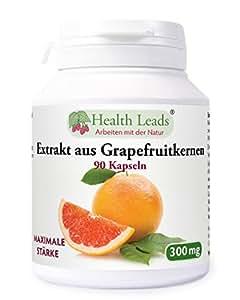 Grapefruitkernen Extrakt (maximale Stärke) 300mg x 90 Kaps
