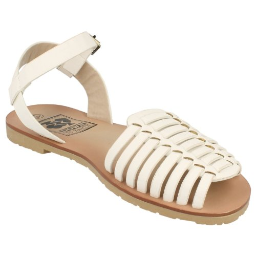 Ladies Casual Down to Earth Sandales de sport à bretelles Blanc