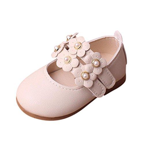 Honestyi BabyschuheBinggong Sommer Kinder Mode Kinder Sandalen Baby Flower Infant Kleinkind Kinder Mädchen Floral Sandalen Sneaker Kleinkind Kinder Pricness Casual einzelne Schuhe (18, Beige) (Kleinkind Girls Sneakers)