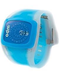 ODM Spin - Reloj digital de mujer de cuarzo con correa de silicona azul - sumergible a 30 metros