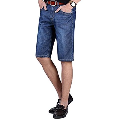 Cloud Style Mens Fashion Summer Jeans Shorts Knee Length Denim