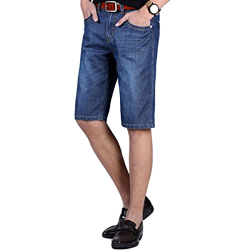 Cloud Style Mens Fashion Summer Jeans Shorts Knee Length Denim Casual Shorts