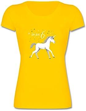 Shirtracer Geburtstag Kind - 6. Geburtstag Einhorn - Mädchen T-Shirt