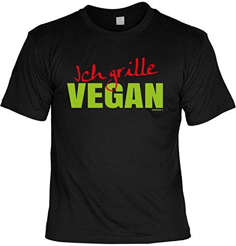 Griller T-Shirt - Ich grille VEGAN - FunHemd für BBQ und Grillen Schwarz