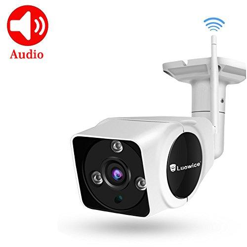 Luowice Wlan IP Überwachungskamera Aussen 720P Wifi Sicherheitskamera IP Kamera mit Bewegungserkennung 15m Nachtsichtfunktion, Slot für TF Karten mit max. 128GB und kompatibel mit Smartphones, Tablets und Windows PC
