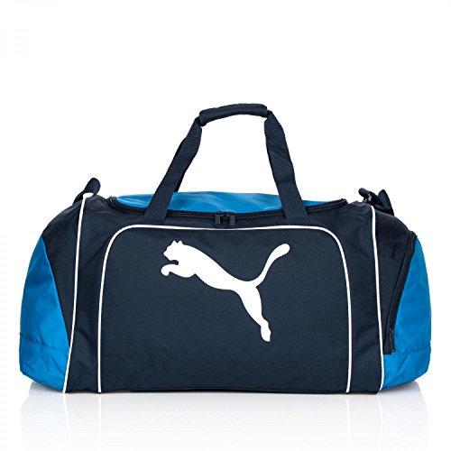 PUMA Tasche Team Cat Sports Bag Blau - Navy/Team Power Blue/White