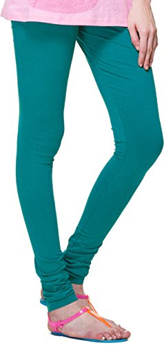 Superior Cotton Stretched Leggings (Peacock)