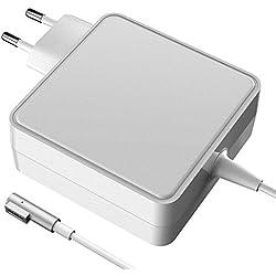 Chargeur MacBook Pro, Notebook Adaptateur Chargeur Macbook Pro, MagSafe 1 60W avec connecteur de Type L Compatible avec Les Macbooks (Avant mi-2012) connecteur magnétique L Forme