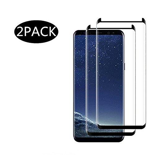 Jjing [2 Pack] Galaxy S8 Protecteur d'écran en Verre trempé, [Couverture Complète] [Dureté 9H]...