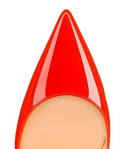 Arc-en-Ciel Damenschuhe spitzen Zehe-Absatzpumpe Orange