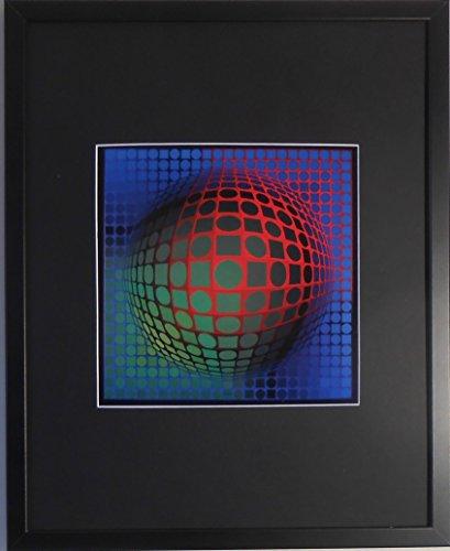 aufgezogen und gerahmt Feny ARNY Kunstdruck Victor Vasarely–50,8x 40,6cm–Teil der...