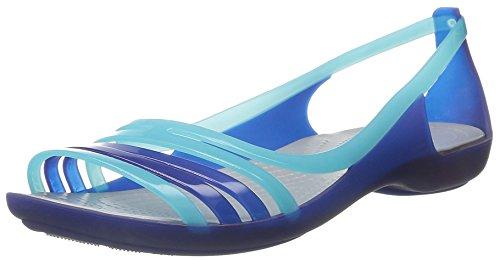 Crocs Isabella Sandalen Cerulean Blau UK8 Cerulean Blau (Flats Shoes Damen Peep-toe)