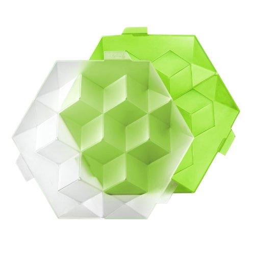 Lékué 0250600V05C003 Ice Cube XL grün (Erdbeer-saft-konzentrat)