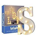 Up in Lights Décoration LED Alphabet Lettres blanches Lumières Marquee Light Sign Opérateur à piles pour réceptions de mariage de partie Maison de vacances et salle de bain Bar la mariée Décor (S)