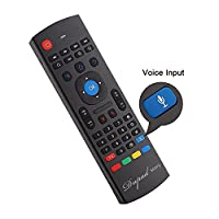 2.4Ghz Air Mouse Keyboard Remote,Mini Wireless USB Android TV Control & 42 Keys Infrared Learning,Voice Input for Computer PC Android TV box Google By Dupad Story