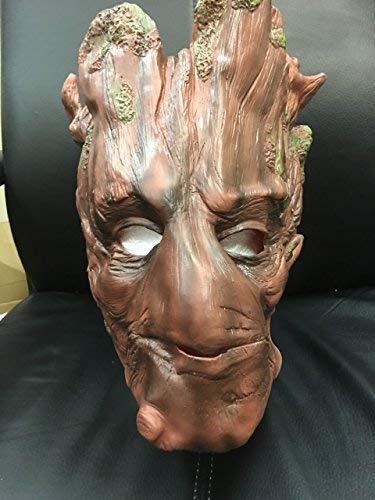 Wrestling Groot Guardians of The Galaxy Marvel - Latex Cosplay Kopfmaske - universell Größe Karneval Halloween Baum Cosplay