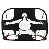 Ballylelly Plegable Puerta de fútbol Net Goal Gate Puerta de práctica de balón de fútbol portátil Extra Robusta para los Estudiantes de los niños Entrenamiento de fútbol
