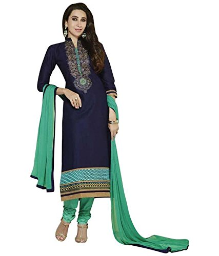 FebForrest Womens\'s Sky Blue Georgette Attractive Traditional Dress Materials/Salwar Suit (Free Size) [JCN 1036 (FF_N1)]