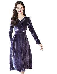 b52b6fb2b4 Amazon.es  Terciopelo Azul - 3XL   Vestidos   Mujer  Ropa