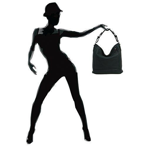 CASPAR Fashion , Borsa Messenger  Donna Nero (nero)