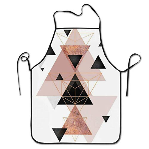 Polyester Apron Bib Aprons Extra Long Ties Women Men Chef Lady's Apron for Cleaning Grill, Machine Washablen/Waterdrop Resistant - Paisley Tie Dye - Denim Tie Dye Tie