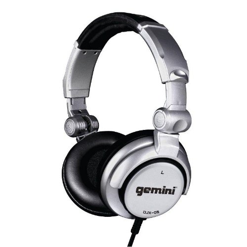 Gemini DJX-05 Cuffie DJ stereo headphones professionali (pieghevoli, girevoli, imbottite, cavo a spirale 4 (Gemini Djx 05 Professionale Cuffie)
