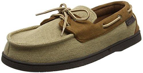 Dearfoams Moccasin, Pantofole Uomo Beige (Khaki)