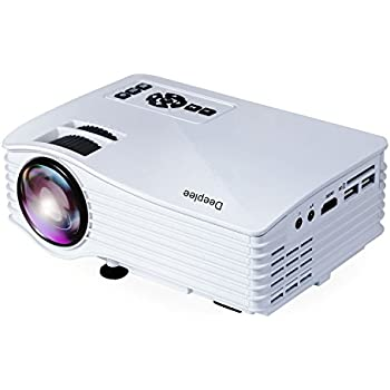 Deeplee dp36 led lcd mini projector 120 home theater for Top rated pocket projectors
