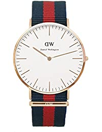 Daniel Wellington Oxford Rose0101DW –Reloj de cuarzo para hombre con esfera analógica y correa de nailon multicolor