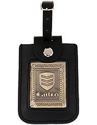Gazechimp Etiqueta Resistente Retro de Aleación de Zinc/Acrílico de Bolso de Golf Decoración de Club de Golf - Bronce, Redondo