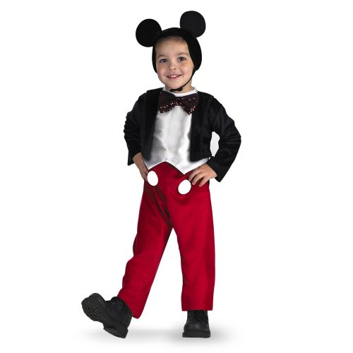 Deluxe Mickey Kostüm - (Size 4-6, Black,red) - Costumes For All Occasions Dg5027L Mickey Mouse Deluxe 4 To 6