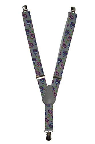 Bretelles entièrement réglable pour les enfants 1-5 ans - Hibou motif Gris