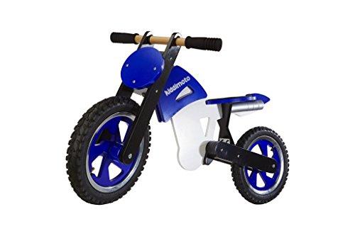 KIDDIMOTO 203 Scrambler Blue/White, Laufrad im Motocross Design