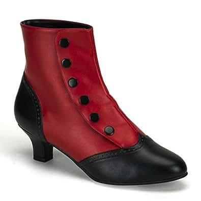 Bordello Flora-1023 sexy burlesque chaussures femmes talon hauts bottes - taille 36-43, US-Damen:EU-43 / US-12 / UK-9