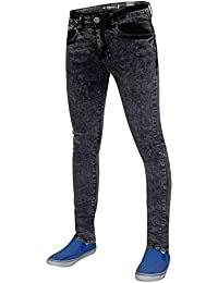Mens Seven Series Balvet Skinny Jeans Distressed Acid Wash Denim Trousers