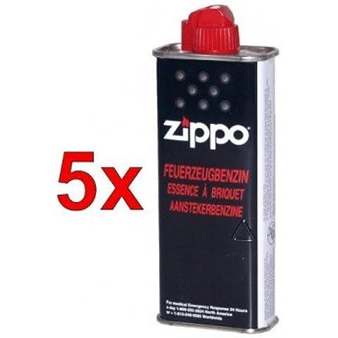 5pieza Zippo Original Mechero Gasolina 125ml