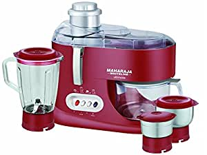 Ultimate Red Treasure JX-101 550-Watt Juicer Mixer Grinder (Red/Silver)