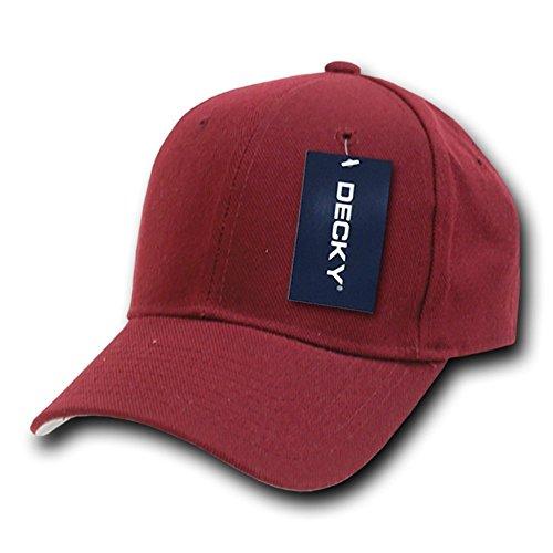 Decky ausgestattet Baseball Cap, Herren, 402-PL-MAR-21, kastanienbraun, Size 21 -