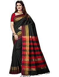 [Sponsored]Rani Saahiba Art Dupion Silk Woven Saree (SKR3287_Black )