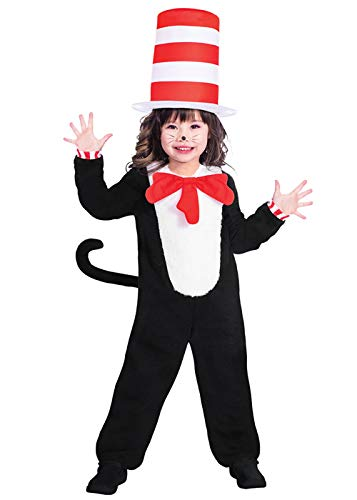 Dr. Seuss Kater mit Hut Jumpsuit - Kostüm Kinder