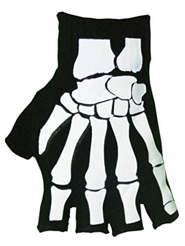 Fingerlose Handschuhe Skelett (Fingerlose Skelett Handschuhe)