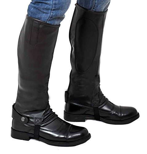 riders-trend-ghette-elastiche-e-flessibili-in-materiale-sintetico-nero-nero-medio-43-cm