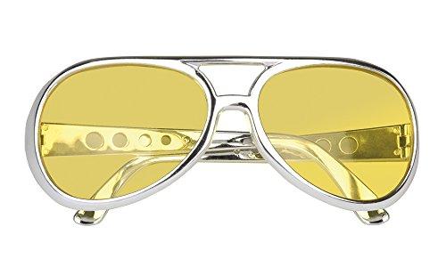 Brille Rock´n Roll Reno - Gelb - zum -