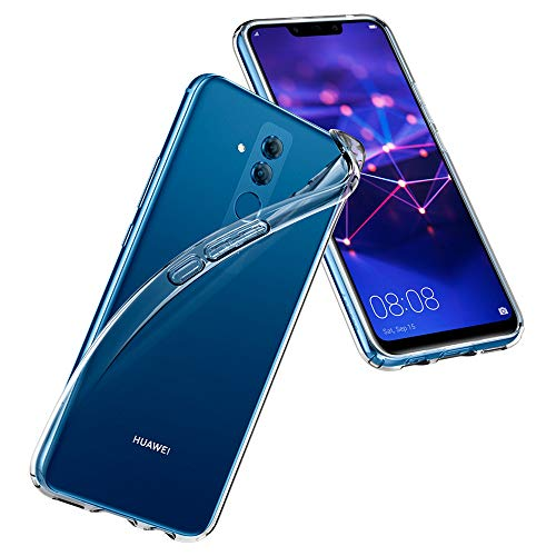 Kamera Top Light (Spigen L35CS25066 Liquid Crystal für Huawei Mate 20 LITE Hülle Transparent TPU Silikon Handyhülle Durchsichtige Schutzhülle Flex Case - Crystal Clear)