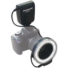 Polaroid anillo de luz y flash macro con LED para cámaras digitales SLR Nikon 1 J1, V1, D40, D40x, D50, D60, D70, D80, D90, D100, D200, D300, D3, D3S, D700, D3000, D5000, D3100, D7000, D5100 (acepta lentes de 52,55,58,62,67,72 y 77 mm)