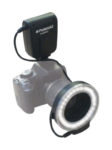Polaroid LED Makro-Ringblitz & Licht für digitale Canon EOS Rebel T3i, T3, T1i , T2i, XSI, XS, XTI, XT, 60D, 50D, 40D, 30D, 20D, 10D, 5D, 1D X, 5D Mark 2, 7D SLR Kameras (passt auf 52,55,58,62,67,72,77mm Objektive)